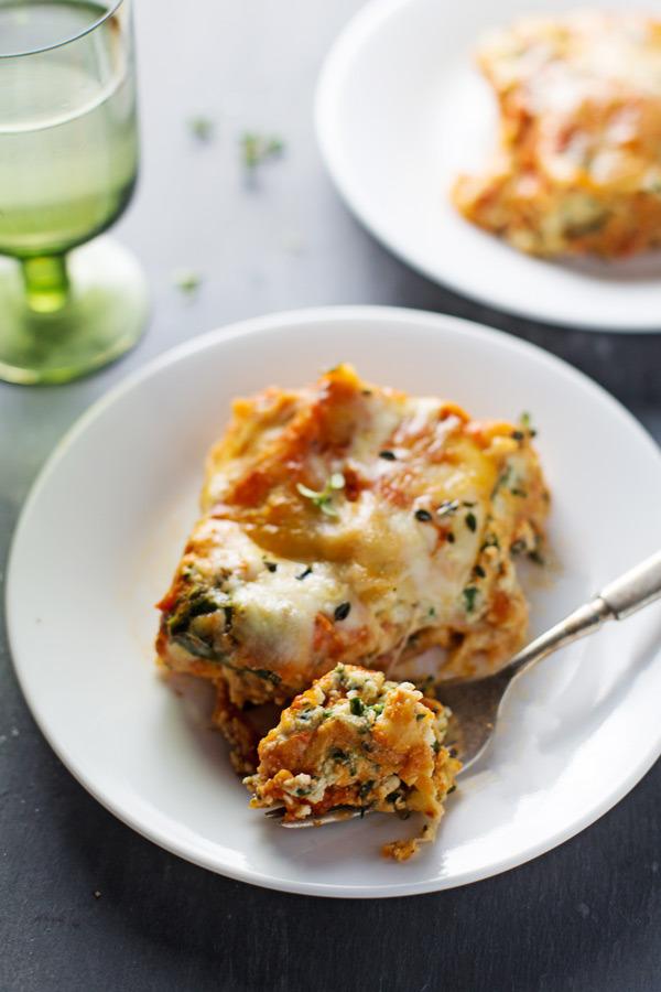 Skinny Spinach Lasagna