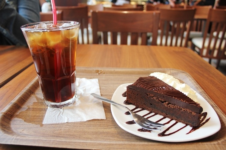 Iced Tea, Cake, Chocolate