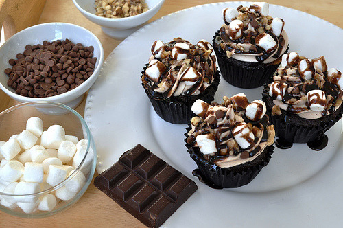 Cupcake, Chocolate, Marshmallow