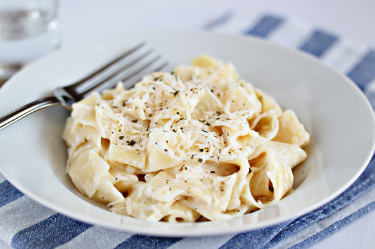 Light Fettuccine Alfredo.