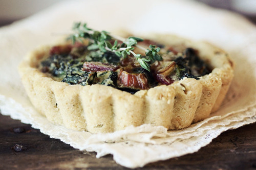 Rainbow Chard Tartlets with Rosemary Almond Meal Crust Roost