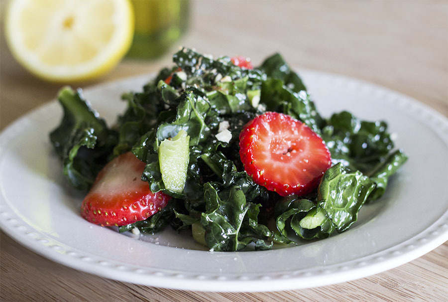 Easy Kale Salad (can Be Made Vegan & Gluten-Free)
