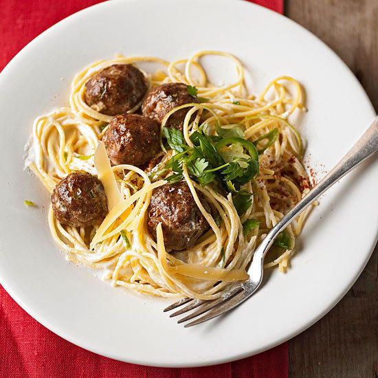 Spaghetti and Spicy Turkey Meatballs