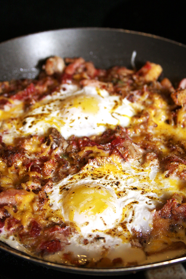 Turkey & Eggs Skillet (By Denise Sakaki)