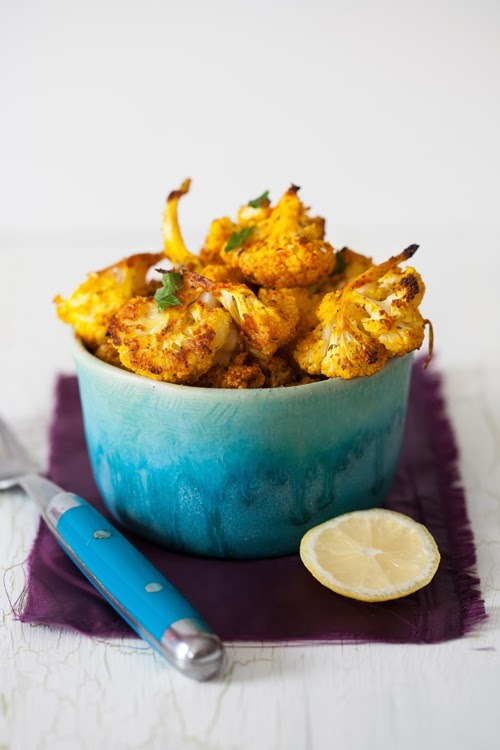 Roasted Cauliflower Bites with Spices, Garlic, and Lemon