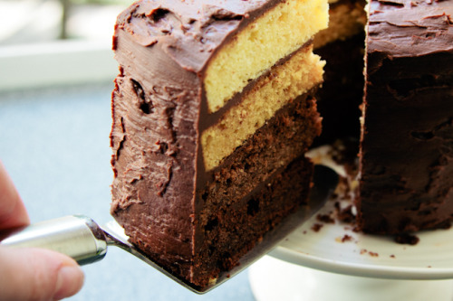 Chocolate Ombre Cake London Bakes