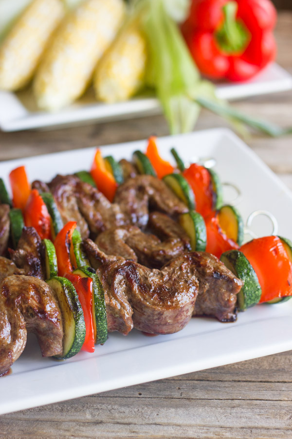 Grilled Flank Steak Kebabs