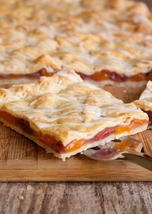 Apricot Cherry Slab Pie
