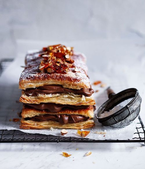 Chocolate And Almond MillefeuilleSource
