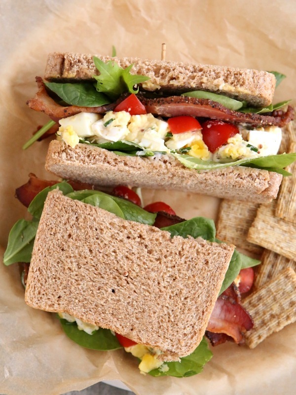 BLT Egg Salad Sandwiches
