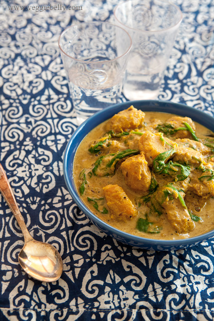 ~Pumpkin and Spinach Curry~