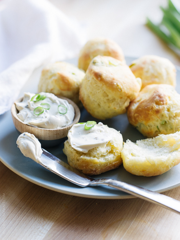 Cream Cheese and Green Onion Biscuits
