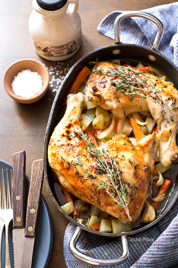 (via Maple Roasted Chicken Quarters)